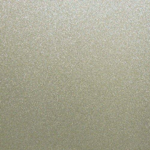 Glitter Card Stock- 5 Sheet Combo (Light Gold Leaf)