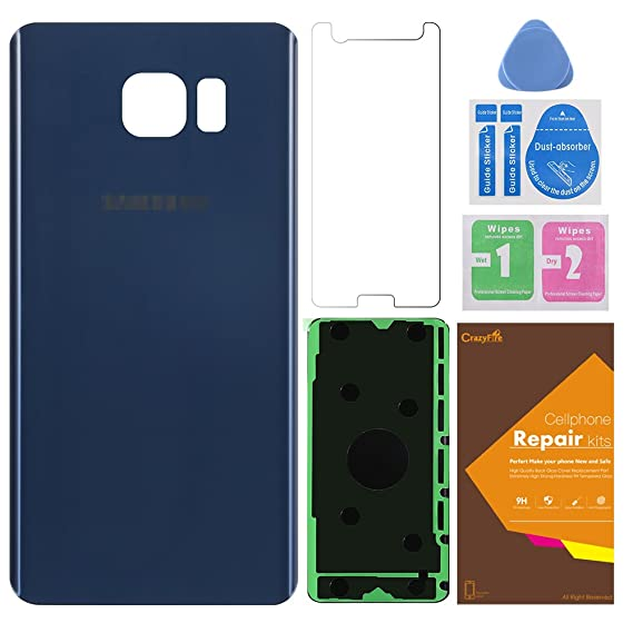 Back Glass Cover galaxy note 5,CrazyFire Back Glass Cover Back Battery Door Replacement with