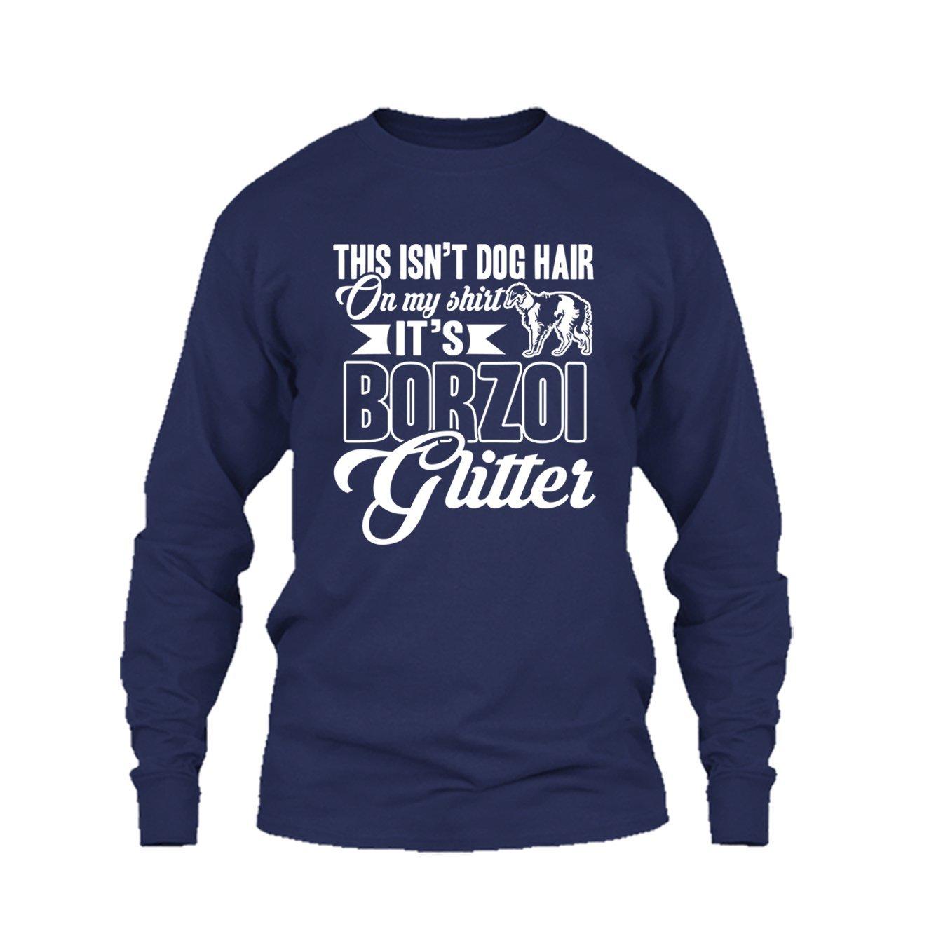 Its Borzoi Glitter Tee Shirt Design Long Sleeve Shirt