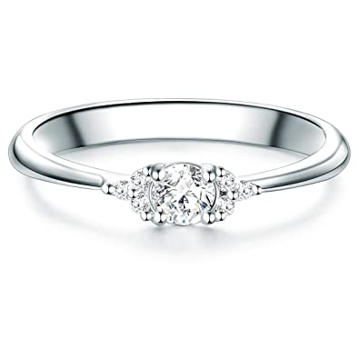 003a477db0ff Tresor 1934 Anillo de mujer anillo de compromiso de plata de ley con ...