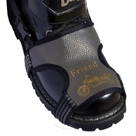 バイクシフトガード り止め 抜け落ちにくい ブラック バイクの靴 プロテクタ 防止パッド オートバイのブーツ部品