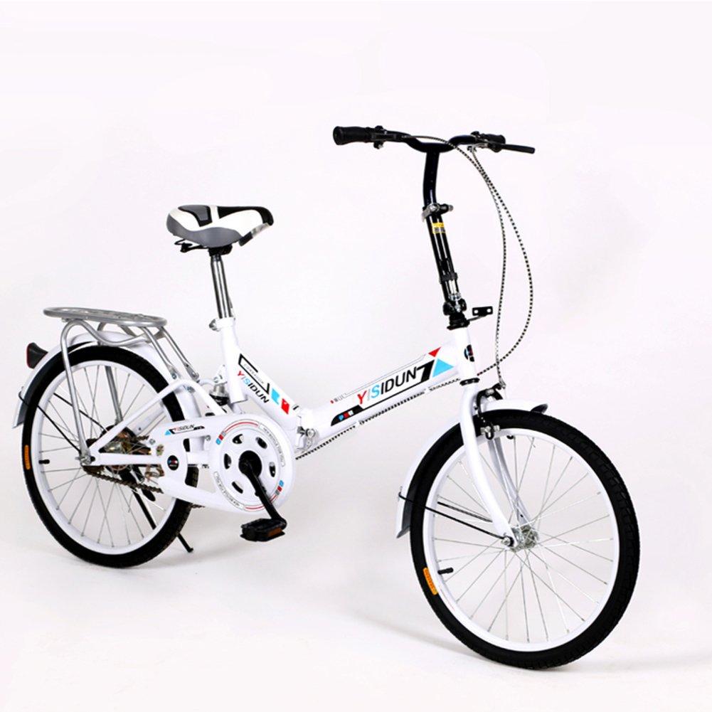 女性 折りたたみ自転車, 大人 折りたたみ自転車 女性自転車 男女 スタイル 学生の車 折りたたみ自転車 B07D2BSBCT 20inch|ホワイトA ホワイトA 20inch