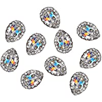 Niome 10Pcs/Set 3D Shining Diamond Charm Nail Art Rhinestones Nail Art DIY Crystal Alloy Stones Manicure Studs Nail Tips