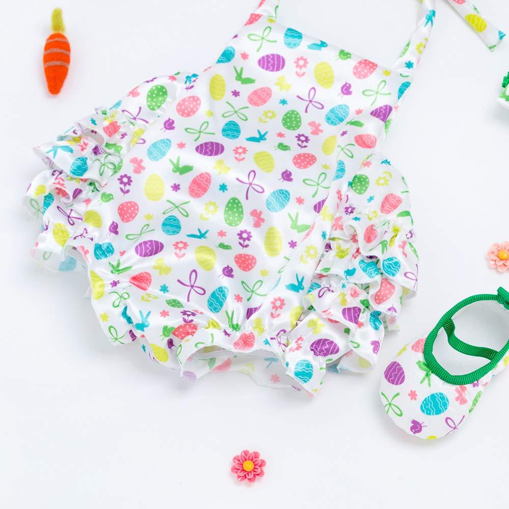 Vestiti Estivi della Ragazza della neonata della Tuta del Pagliaccetto della neonata dei Vestiti della Ragazza di Estate di Pasqua Liyukee Insiemi delle Ragazze