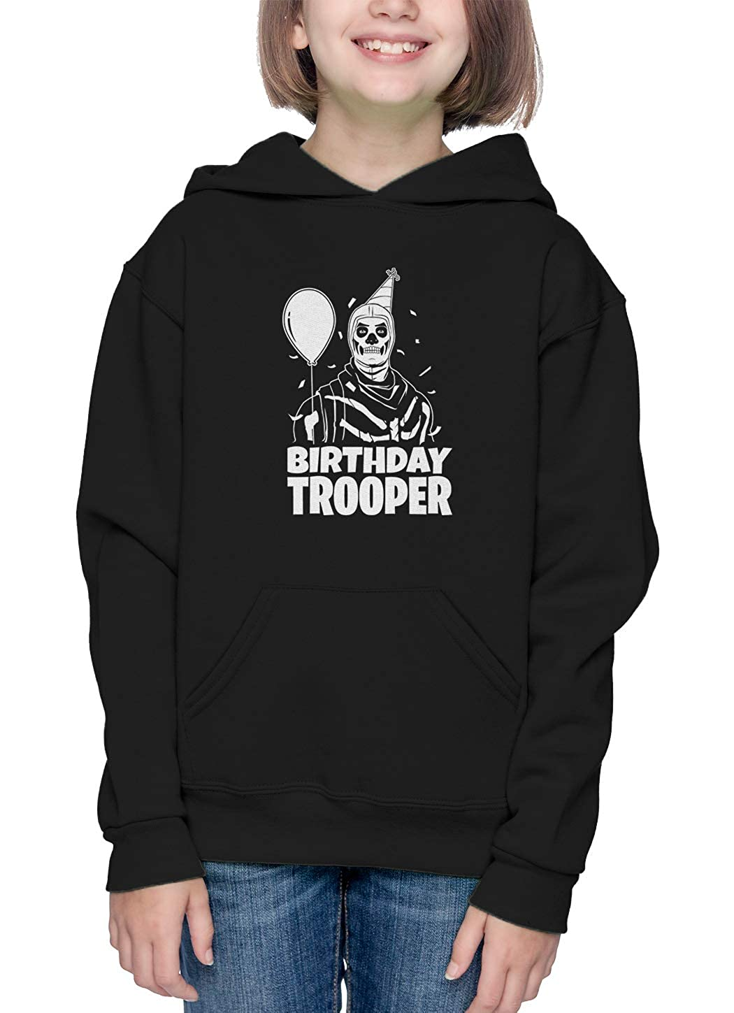 Video Game Just Build Toddler//Youth Fleece Hoodie Birthday Trooper Youth Charcoal, X-Small