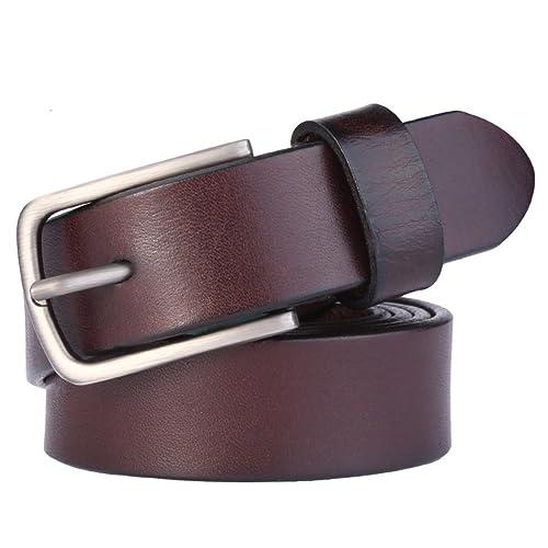 Cinghia delle signore Pin fibbia cintura Semplice moda cinture-Marrone scuro