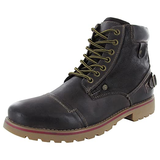 Steve Madden Mens Classzee Brown Leather - Boots