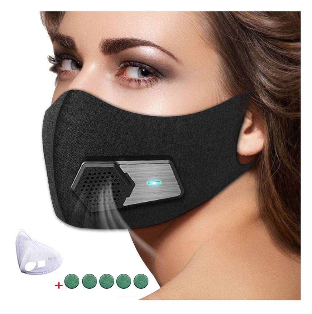 95N Dust Mask,Dust Filter Mask Air Smart Mask for Outdoor Activities, Travel, Gardening, Ash, Bacteria, Pm2.5 for Men and Women by WXH meet (Image #1)