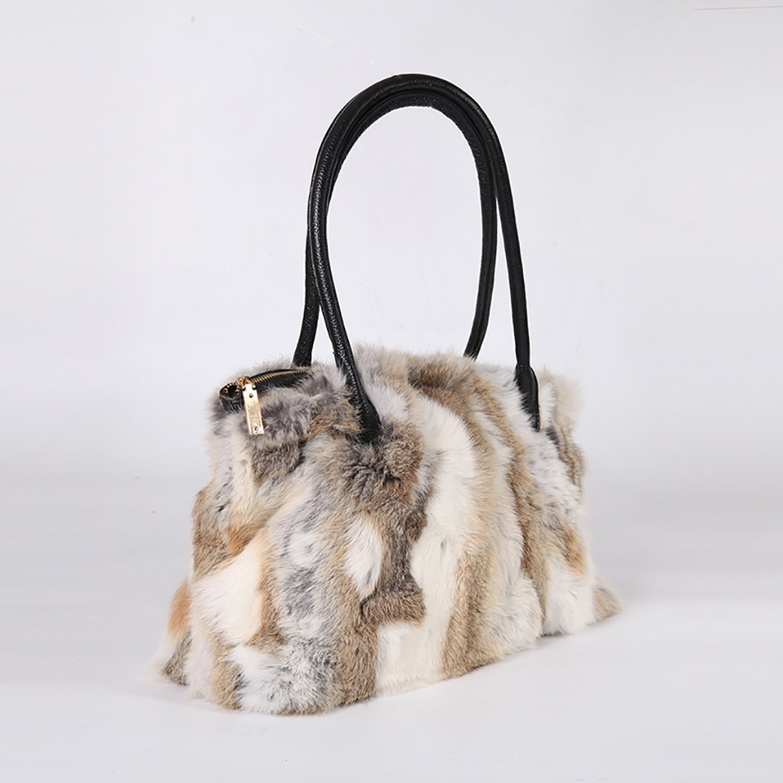 GCID-BAO06-1 URSFUR Winter Shoulder Bag Women Real Rabbit Fur Handbag Wristlet Clutch Purse Shijiazhuang Starway Imp/&Exp Trading Co .Ltd