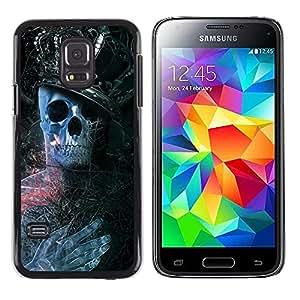 TaiTech / Prima Delgada SLIM Casa Carcasa Funda Case Bandera Cover Armor Shell PC / Aliminium - Rey Esqueleto - Samsung Galaxy S5 Mini, SM-G800