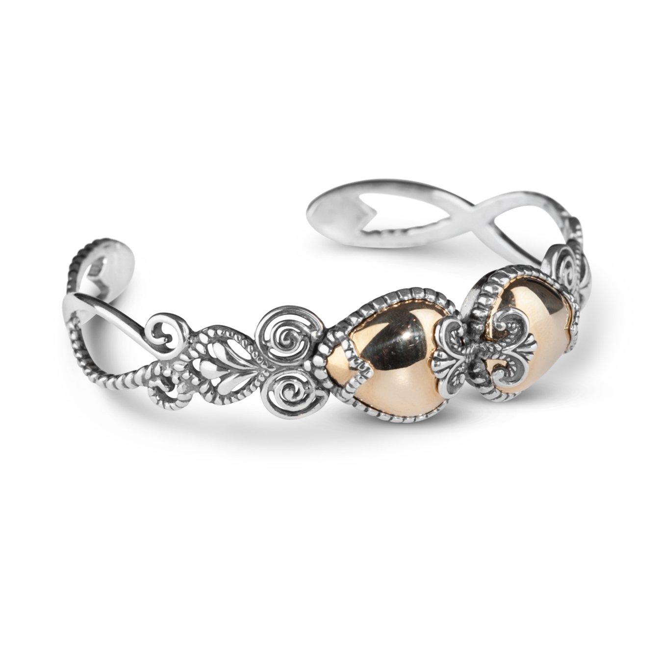 Carolyn Pollack Sterling Silver Brass Cuff Bracelet, Small