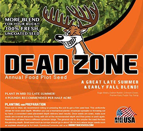 Dead Zone - Horny Buck Food Plot Seed (4 pound bag plants 1/2 an acre)