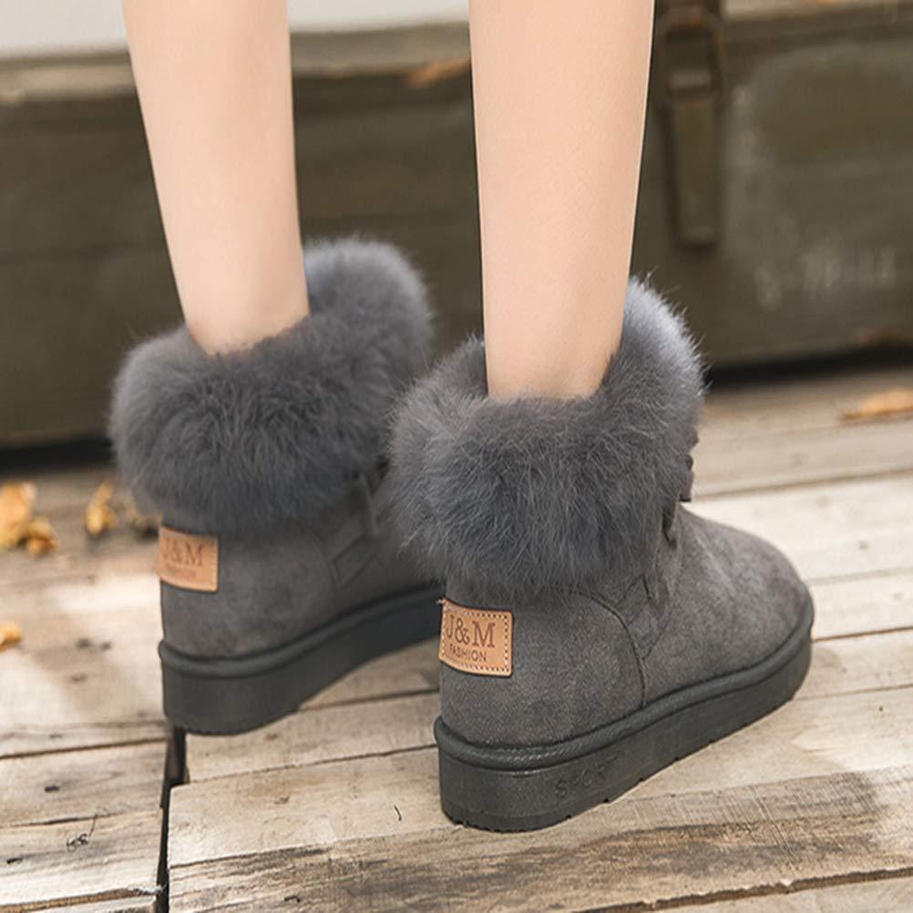 Liuhoue Ladies Ladies Ladies Snow Stiefel,Warmer Winter Lässigen Stiefeln Hoch-Hilfe 8f0a3a