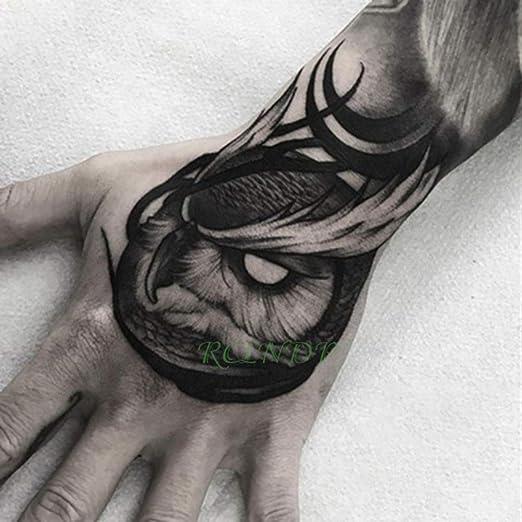 ljmljm 4 Piezas Impermeable Tatuaje Pegatina Flor Luna Tatuaje ...