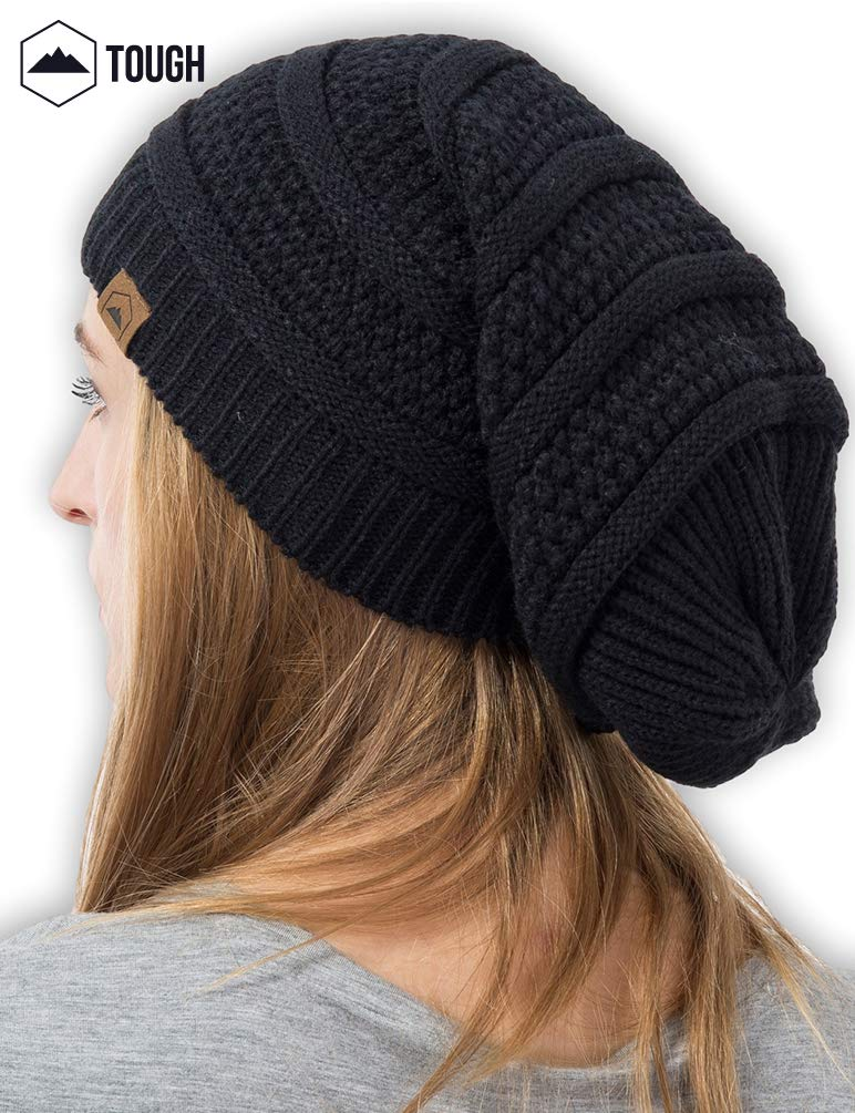 ce4915a26ab52 Slouchy Cable Knit Beanie by Tough Headwear - Chunky