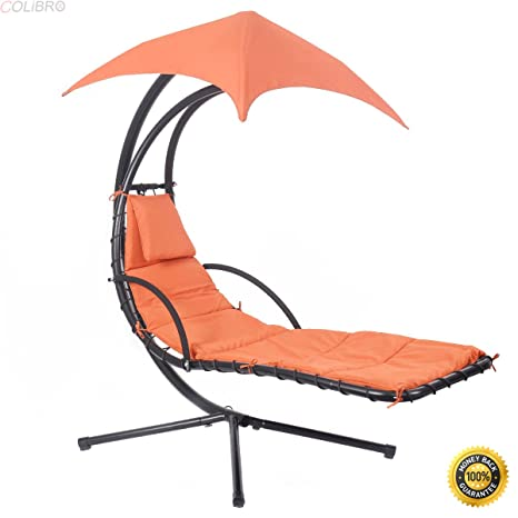 Amazon Com Colibrox Hanging Chaise Lounge Chair Arc Stand Air
