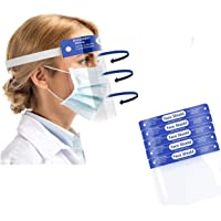 Safety Face Shield 5 Pack, All-Round Protection, Lightweight Transparent Shield with Adjustable Elastic Band for Men…