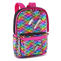 Rainbow Colour Reveriable Sequence Back Pack
