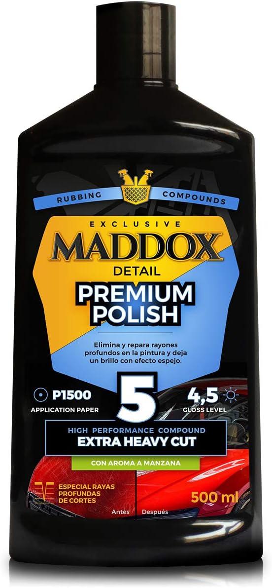 Maddox Detail - Premium Polish - Reparador de Alto Rendimiento para rayones Profundos en la Pintura del Coche.