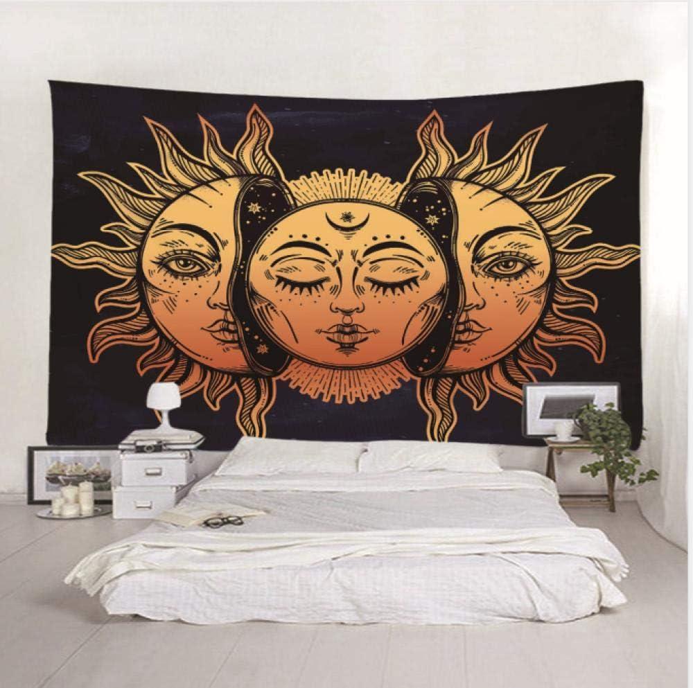 HANTAODG Tapiz Tapices Sol Y Luna Mitolog/ía Hippie 130X150Cm Mandala Tapestry Bohemio Tapiz Colgar En La Pared, Colgar En La Pared India Hippie Tapiz
