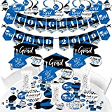 Big Dot of Happiness Blue Grad - Best is Yet to Come - 2019 Royal Blue Graduation Party Supplies - Banner Decoration Kit - Fundle Bundle
