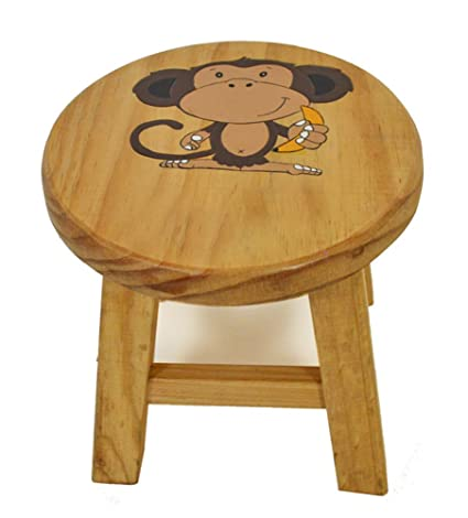 Incredible Childrens Monkey Wooden Flat Pack Stool Theyellowbook Wood Chair Design Ideas Theyellowbookinfo