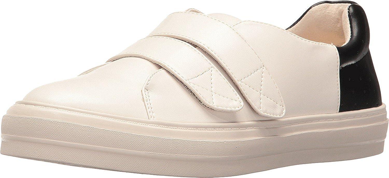 Nine West Womens Oleandro Low Top Slip On Fashion Sneakers Milk/Black Size 6.0