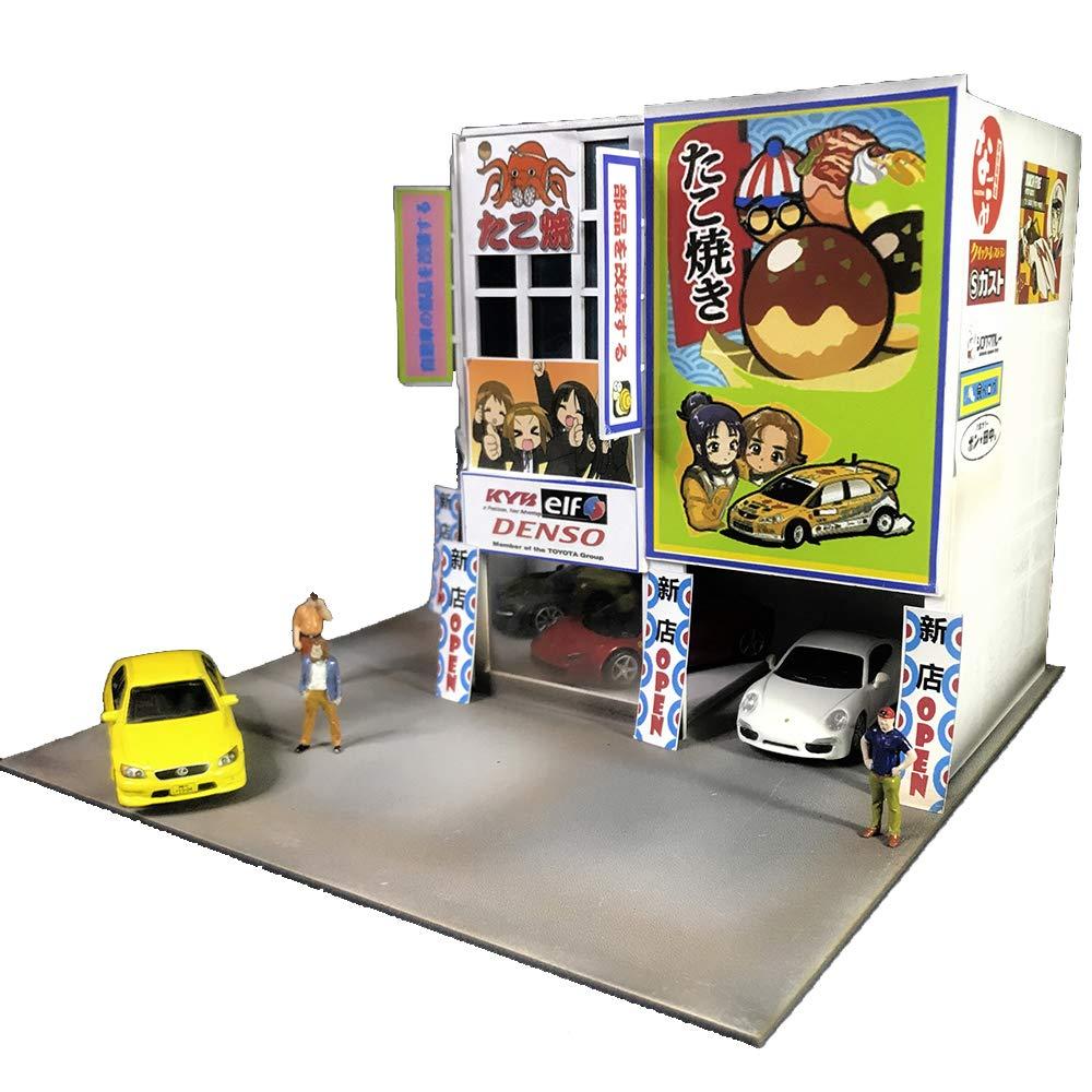Miniature 1/64 Automobile Market Bevel Garage Scene Display Cases for Hot Model Vehicle Cars