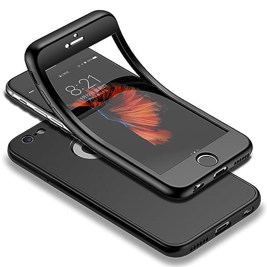 11 opinioni per HICASER iPhone 6s 360 Gradi Custodia + Pellicola Vetro Temperato Full Body Ultra