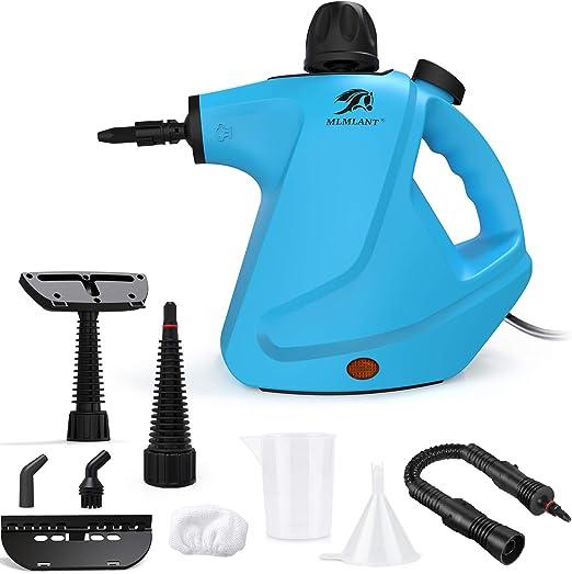 MLMLANT Limpiador de Vapor presurizado de Mano, 450ml 1050W y 9 Accesorios,Vaporeta Portátil y Manual de Alta Presión: Amazon.es: Hogar