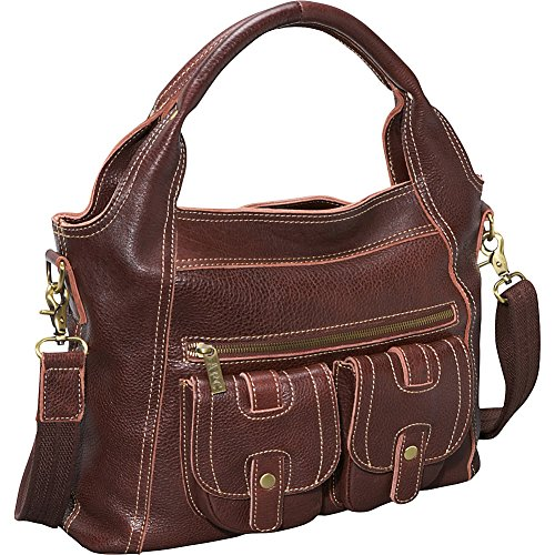 Hobo Chestnut AmeriLeather Elizabeth Two Leather Brown Pocket nRvwq