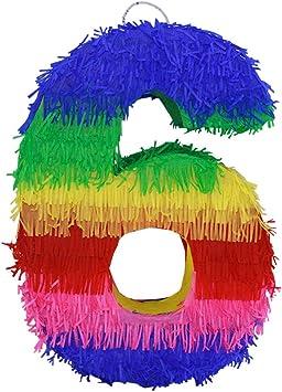 Amazon.com: Piñata con números 3D de LYTIO, de papel ...