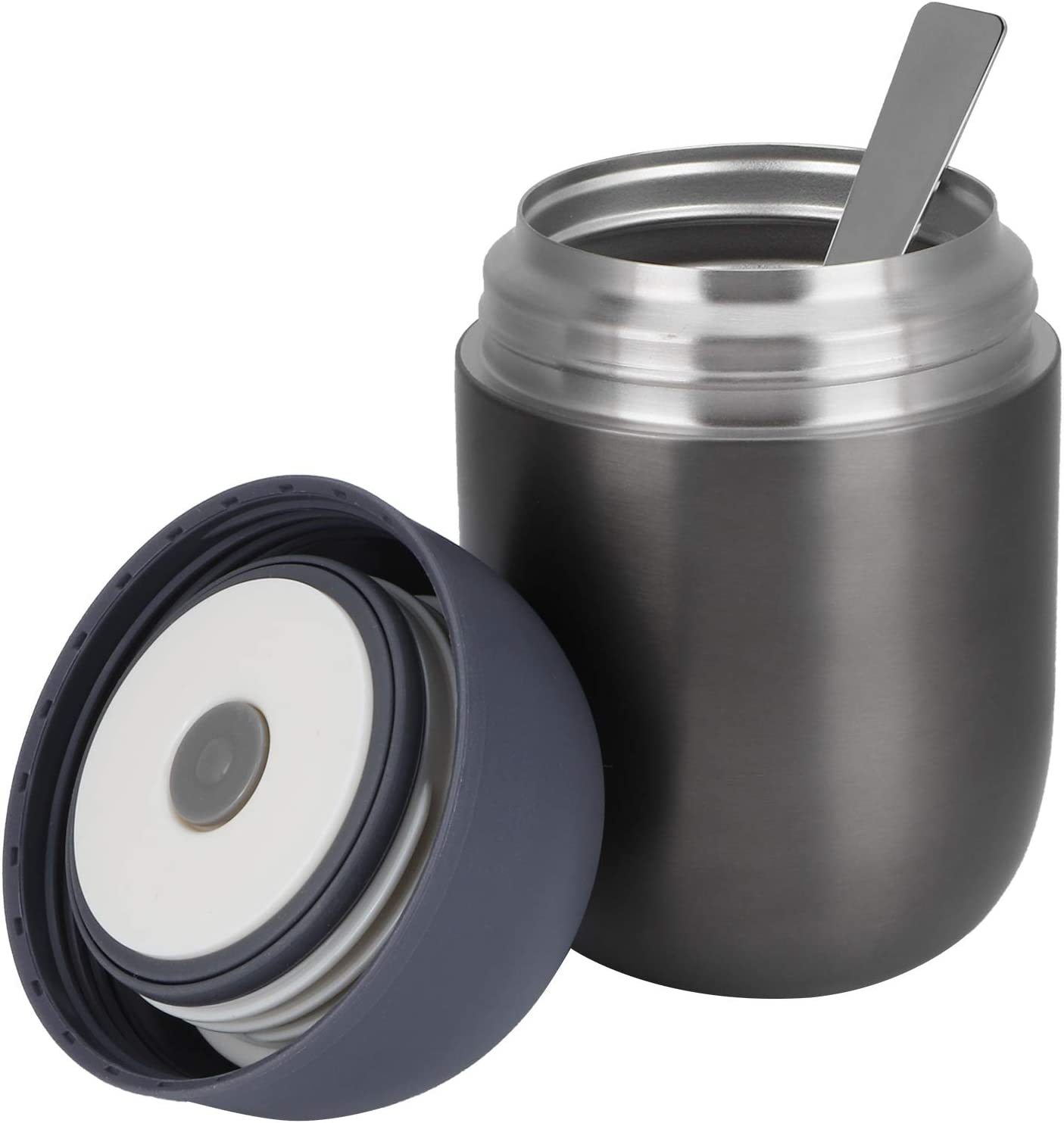 Stew Food Container, Food Grade Leakproof Vacuum Hot Food Flask, Insulated BPA Free Stainless Steel for Office Home