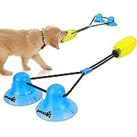 Pecute Juguete Masticable Interactivo para Perros, Pelota de Juguete para Perros con 2 Ventosas, Duraderos, Limpieza de…