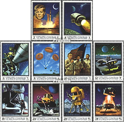 Yemen (UK) 741A-750A (Complete.Issue.) 1969 Apollo 10 and Lunar Exploration (Stamps for Collectors) Space