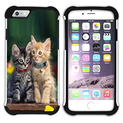 STPlus Gato en una caja Animal Doble Capa de Protección Rígido + Flexible Silicona Carcasa Funda Para Apple iPhone 7 Plus / iPhone 8 Plus #14