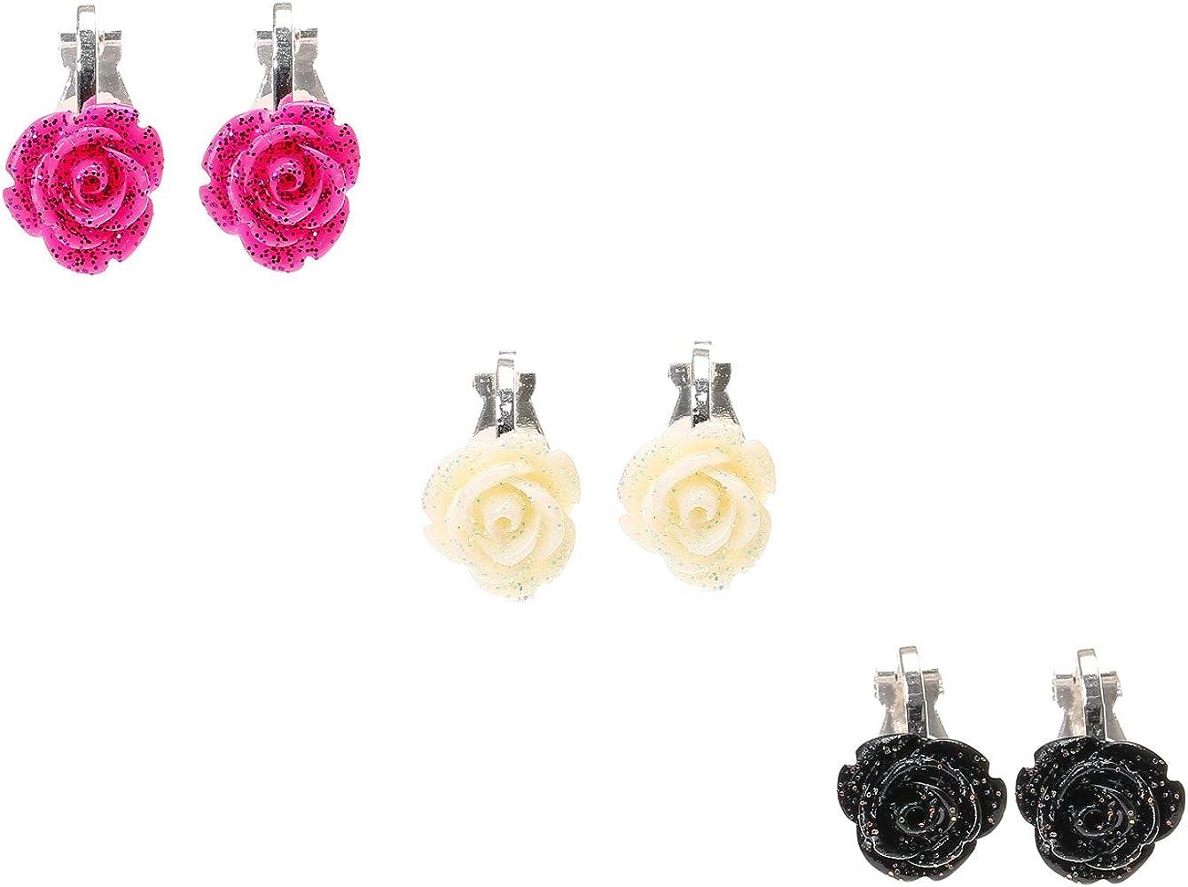 D'oreilles Multi 3 Boucles Clip Lot De Roses Claire's Femmes Nn0m8w