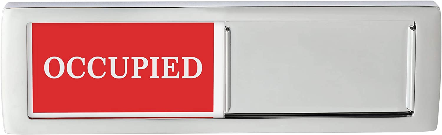 Privacy Sign Premium Metal Deisng Vacant Occupied Sign For Home Office Restroom Conference Hotles Hospital Slider Door Indicator Tells Whether Room Vacant Or Occupied 6 X 2 Silver Amazon Co Uk Office Products