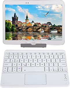 Yoidesu Portable Bluetooth Touchpad Keyboard 9in Ultra Thin Lightweight Wireless Touch Keyboard for Windows iOS Mac Android Tablets Smartphones White
