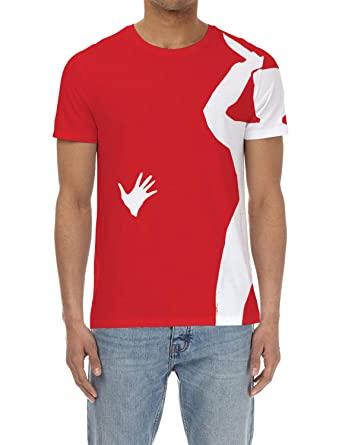 595315359 Image Unavailable. Image not available for. Color: Olivefox Men's 3D  Digital Printed Personalized Short Sleeve T-Shirt ...