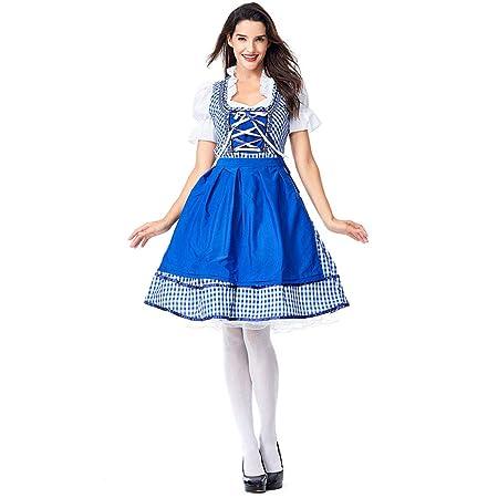 QQWE Disfraz de Oktoberfest para niñas, Dirndl de niña de Cerveza ...
