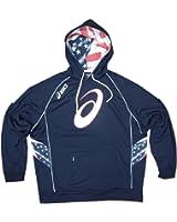 Asics USA 'N' Spiral 'A' Hoodie Mens Navy Blue