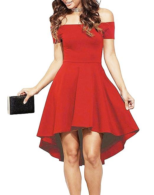 Emma   Giovanni - Vestiti Eleganti spalla nuda - Donna (Rosso 4d503e7edfa