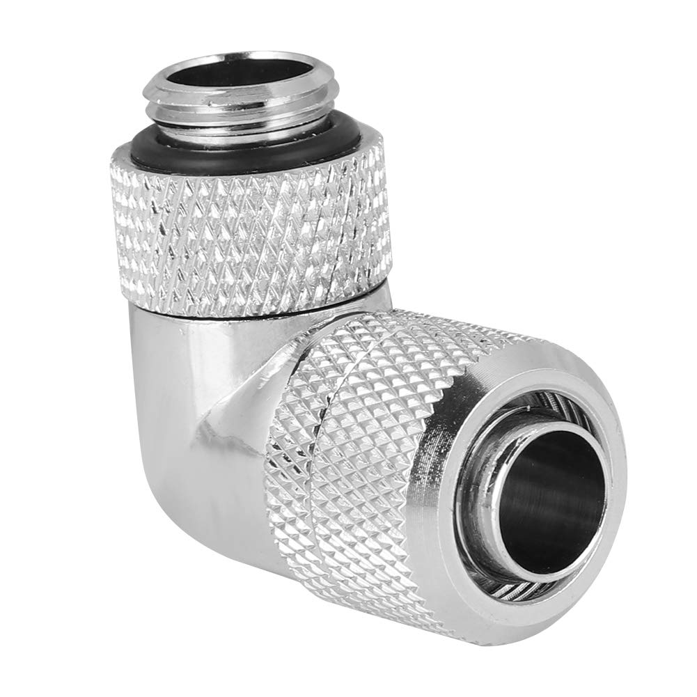 Silver Pomya Elbow Connector Tube 18mm Barbed Elbow Flexible Thread G1//4 Two-Touch Fitting for PC Water Cooling Systeme