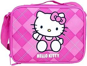 Hello Kitty Lunch Box Bag - Pink Checker