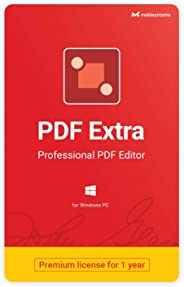 PDF Extra - Professional PDF Editor – Create, Edit, Protect, Annotate, Fill and Sign PDFs - 1 PC/ 1 User / 1year Subscriptio
