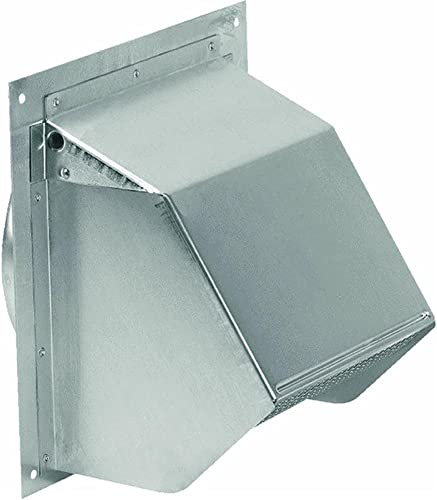 Broan 641 Wall Cap for 6 Round Duct for Range Hoods and Bath Ventilation Fans, 6 , Aluminum