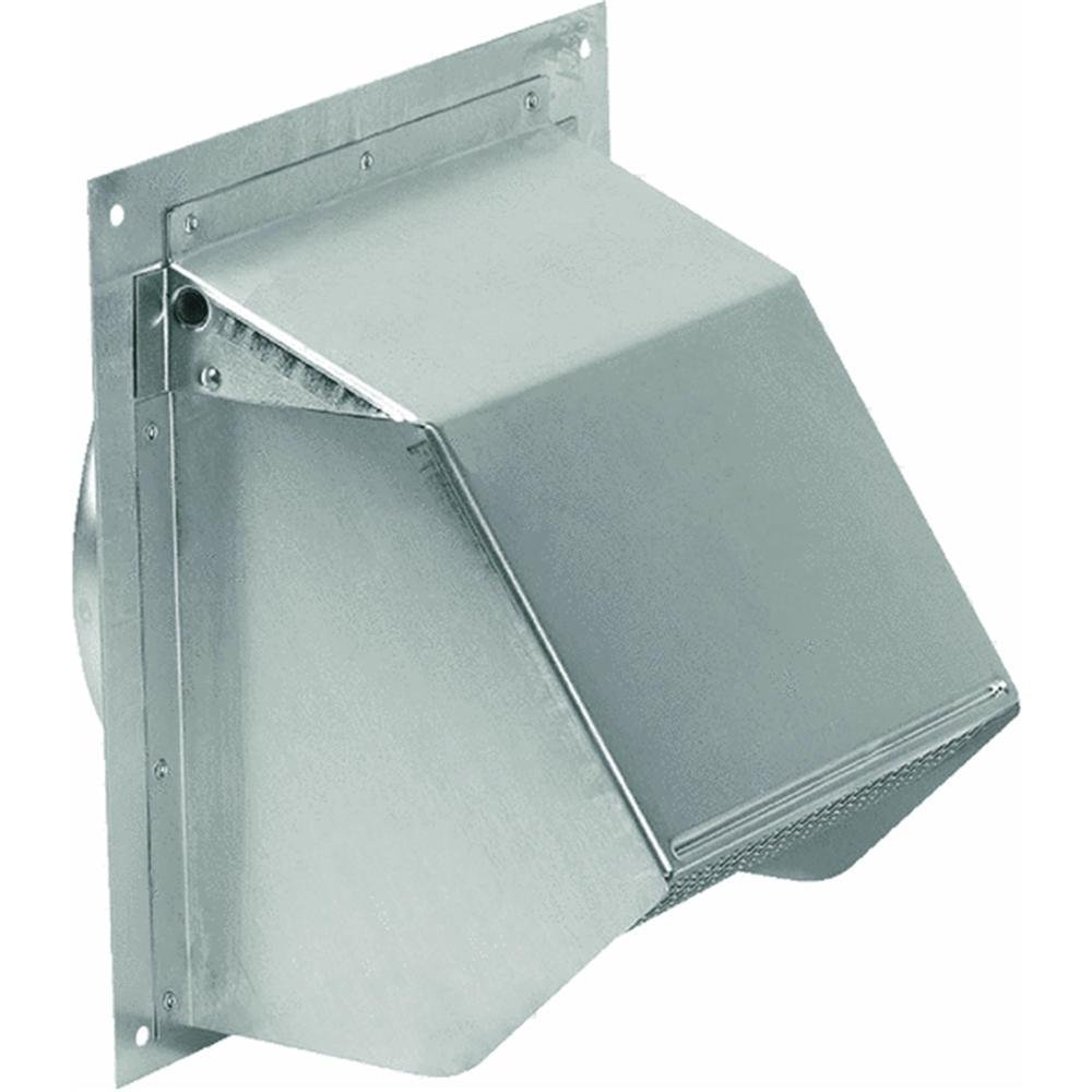 "Broan 641 Wall Cap for 6"" Round Duct for Range Hoods and Bath Ventilation Fans, 6"", Aluminum"