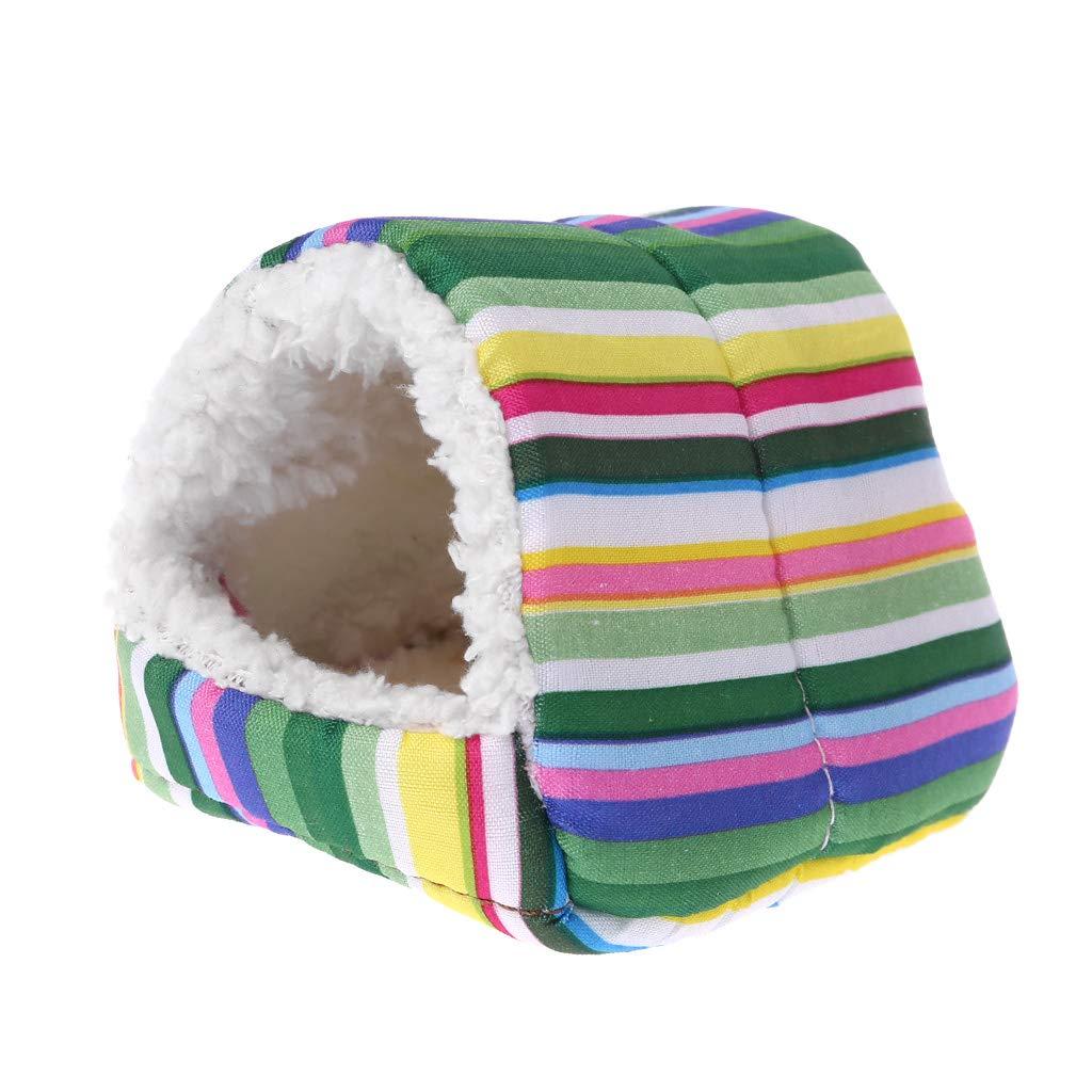 CADANIA Pet Bed Fleece Criceto Gabbia Sleeping Mat Bed Small Animal House Warm Pad - Camouflage