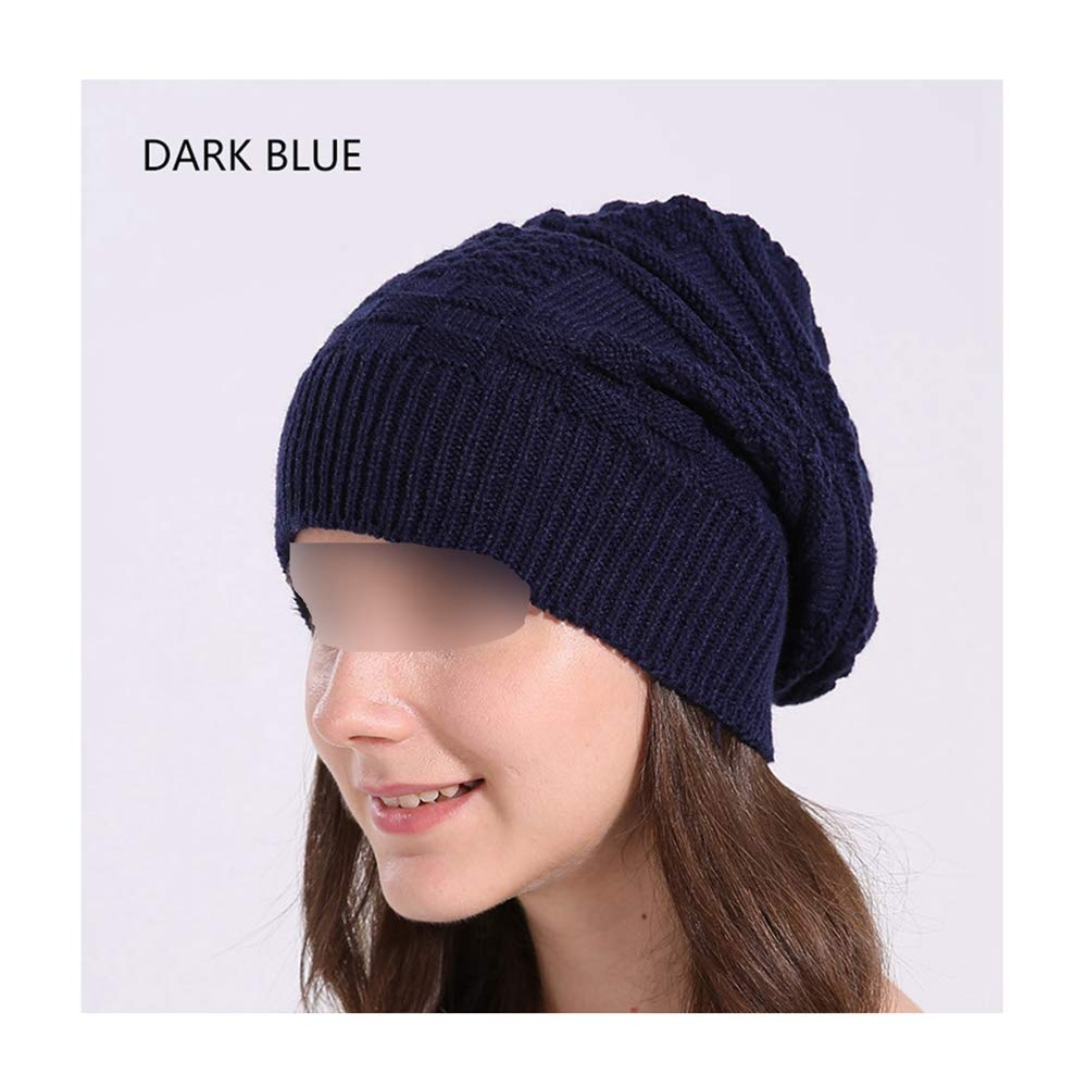MJ-Young Warm Winter Hat Knitted Cotton Skull Cap Beanies Women Casual Baggy Bonnet Ladies Solid Beanies